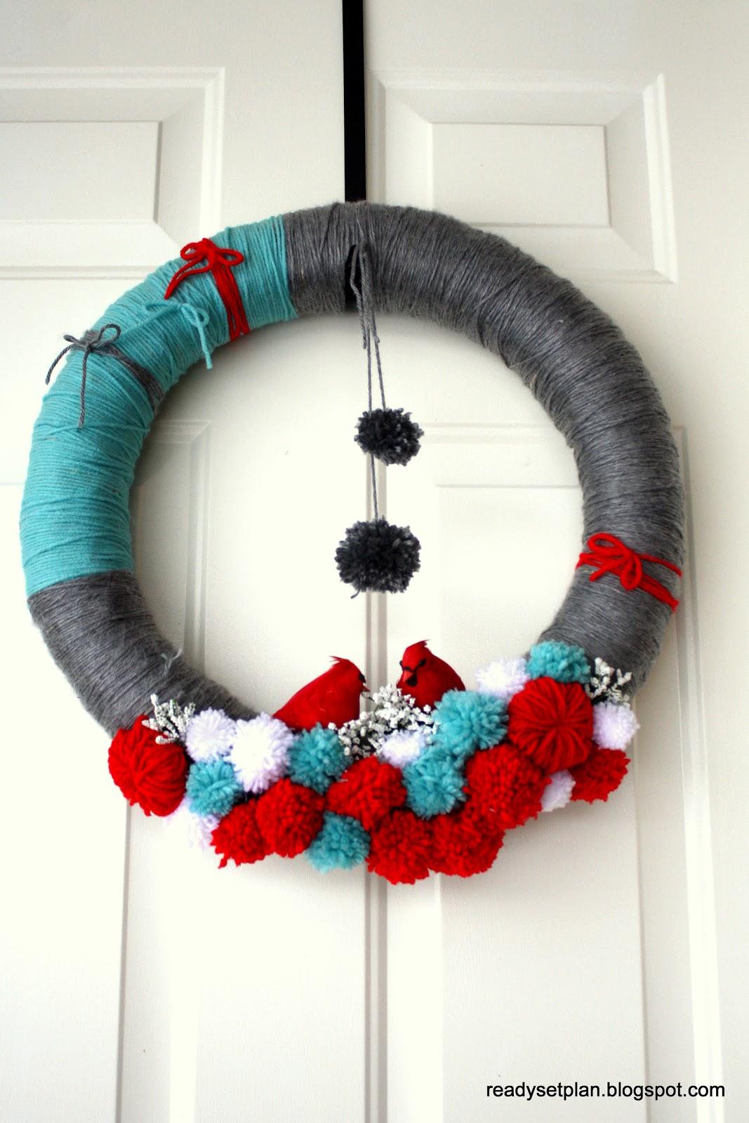 Ready.Set.Plan: Christmas Yarn Wreath