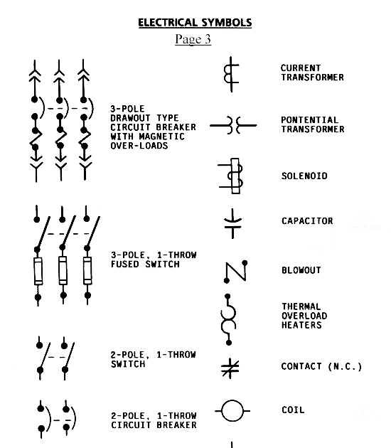 Ieee Electrical Symbols on power circuit breaker schematic diagram
