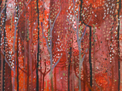 Acrylic and Thread - Evening Forest