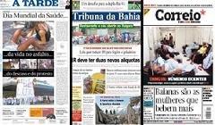 CAPA DOS JORNAIS DE HOJE 08/04/2009