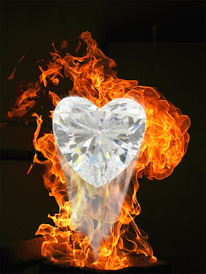 diamond on fire