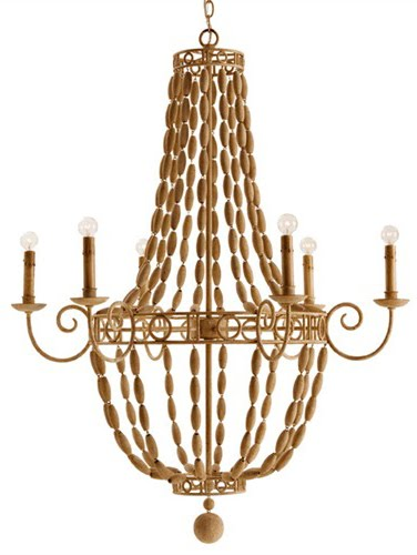 The Designer Insider: Natural Wood and Iron Chandelier! All New!