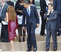 President Obama and girl Mayora Tavares