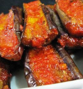 Hot Spicy Egg­plants (Terong Balado)