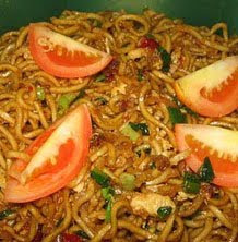 Fried Spicy Tomatoes Egg Noodles