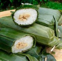 Sticky Rice Stuffed with Seasoned Meat Lemper