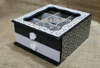 artesanato decoupage carimbo resina caixa madeira mdf