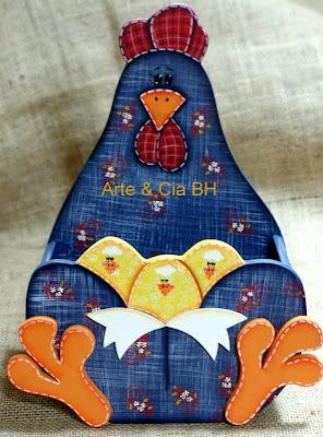 artesanato porta ovos galinha pintura country madeira mdf