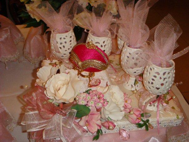 Pretty Hantaran Gubahan Perkahwinan Cream Rose Hantaran