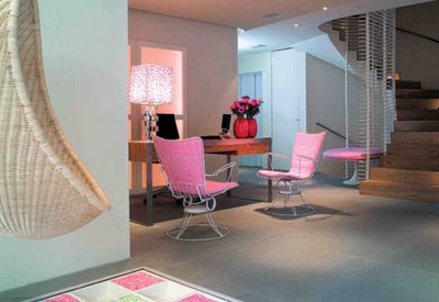 Pink Interior Design for Minimalist Home Design