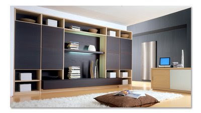 Black backround in modern home design for Home Theater