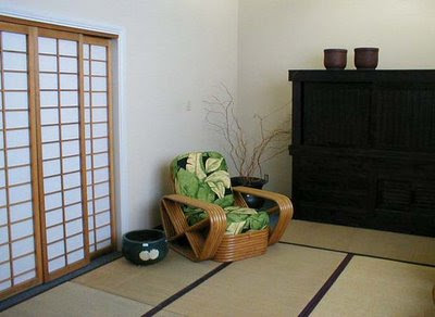 Japanese traditional room design with shoji window