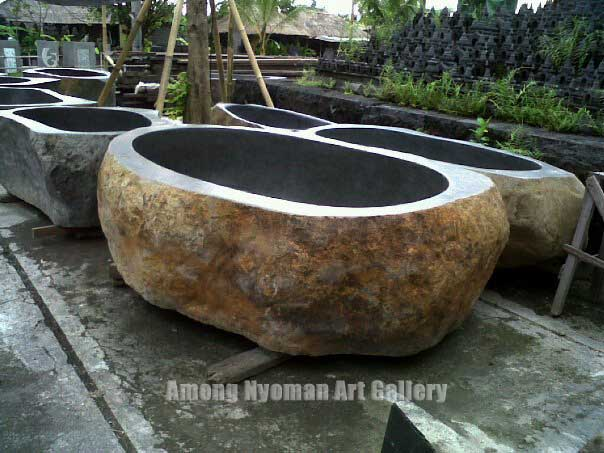 Natural Stone Art : Among nyoman art gallery flintstone bali natural stone