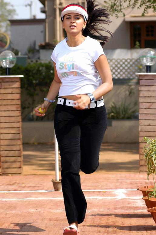 Anushka Playing Cricket With Balls