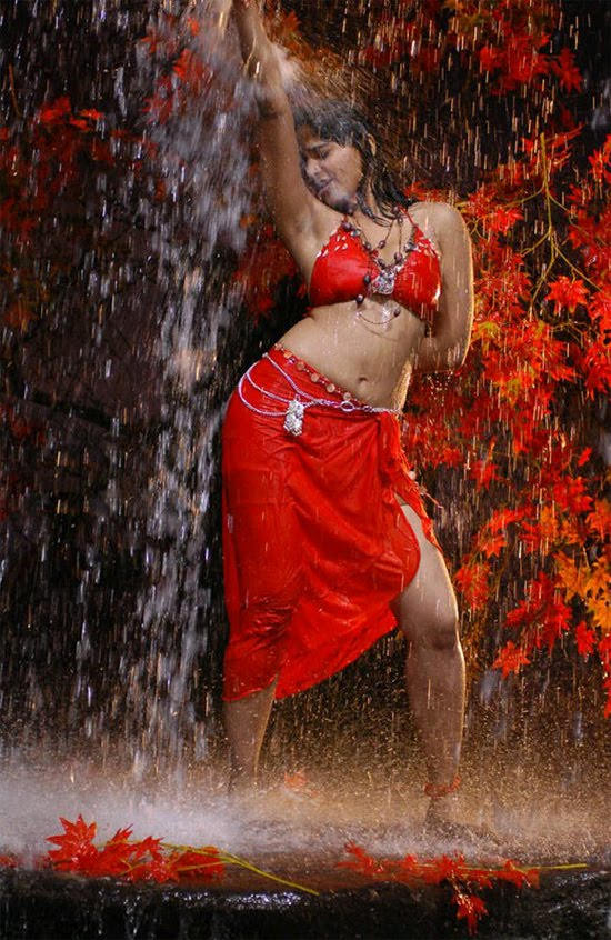 Anushka in Wet Red