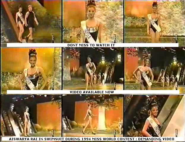 Aishwarya Rai Swimsuit Miss World Contest