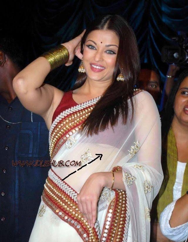 Aishwarya Rai Half Breast Show on Raavan Promotion