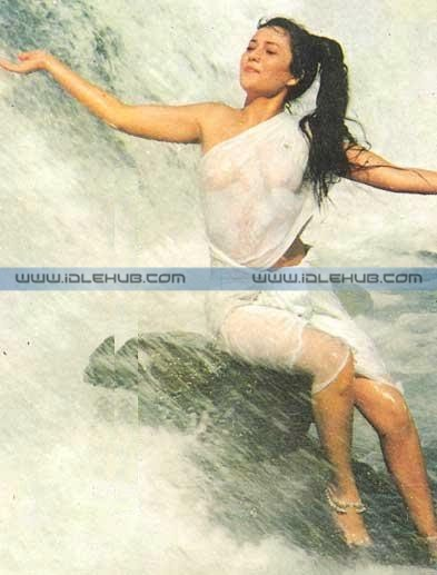 Mandakini - In her famous wet dress from the movie 'Ram Teri Ganga Maili'