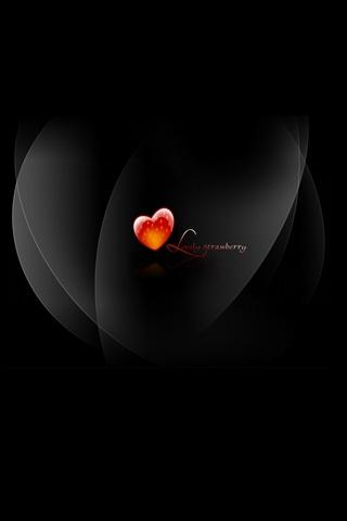 Black Background Love Mobile Wallpaper