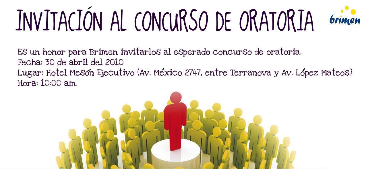"""Invitación """"Concurso de Oratoria"""""""