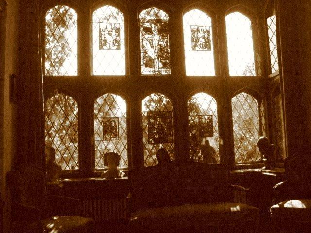 interior de muzeu in biblioteca...