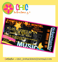 Invitaciones tipo Ticketmaster