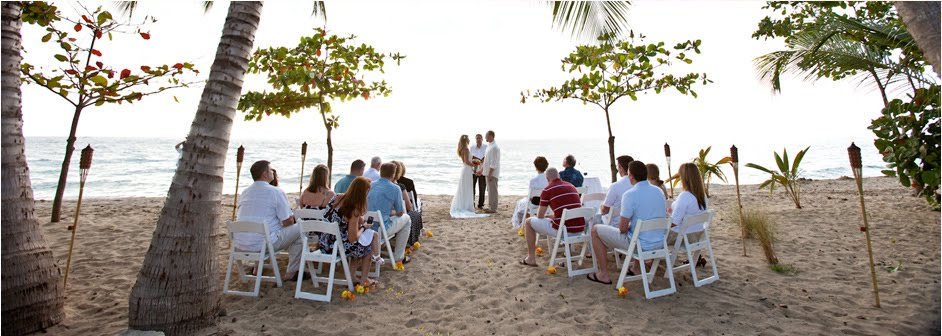 Here A Picture Of Wedding At Rincon Ocean Villa On Their Beach Sunset