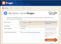 mendaftar blogger