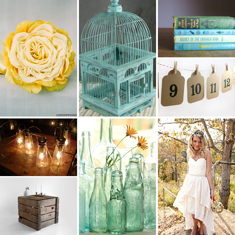 Charming teal and yellow wedding inspiration