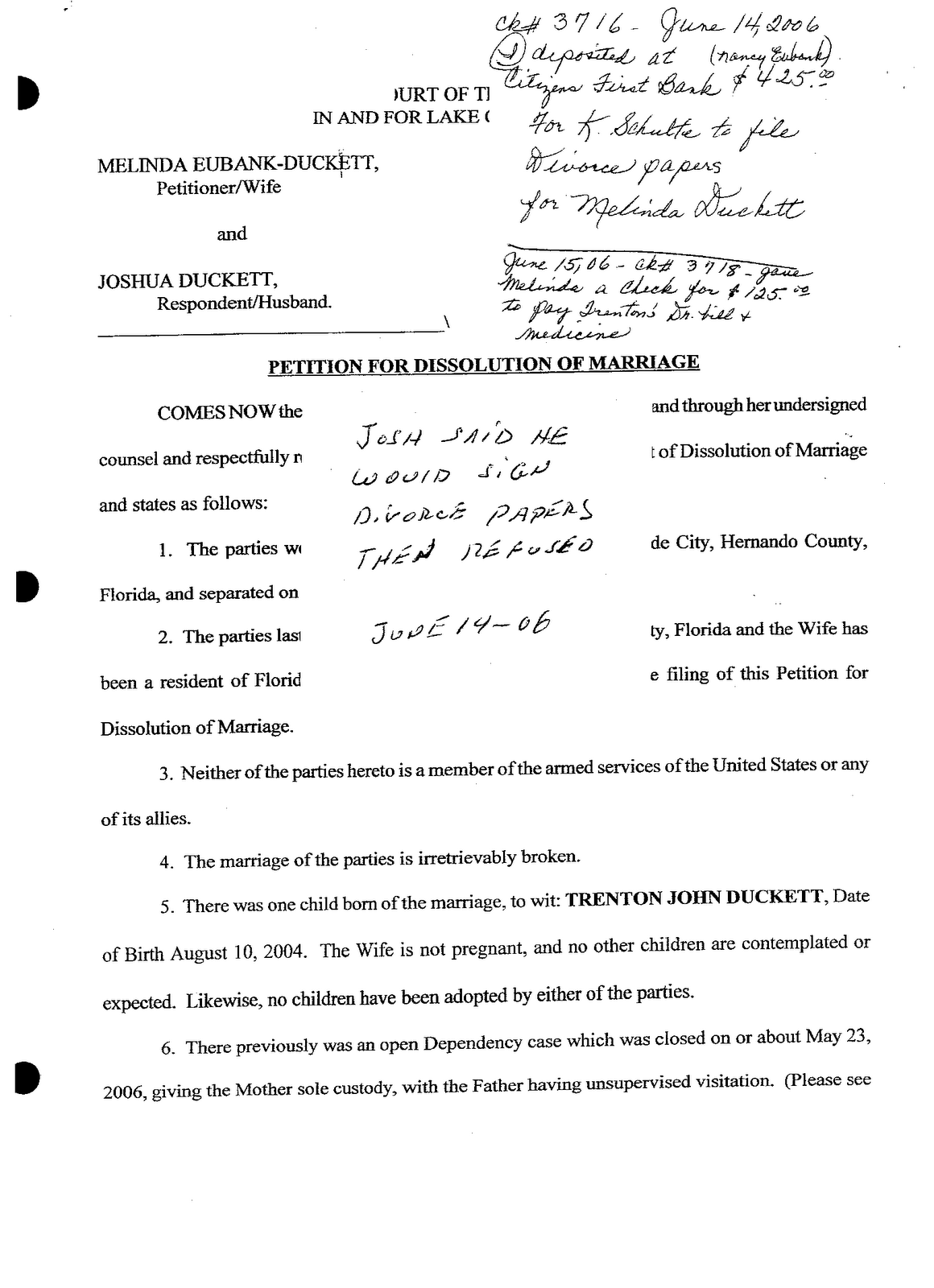 papers template – Divorce Papers Template