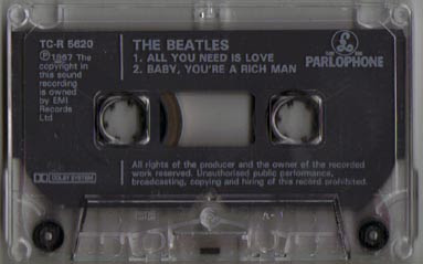 All You Need Is Love - cassingle