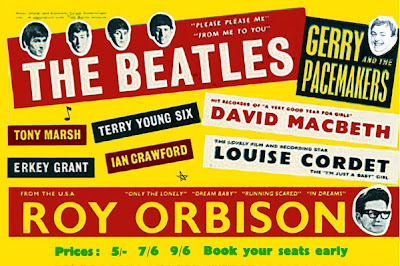 Advertisement for the Beatles Orbison tour