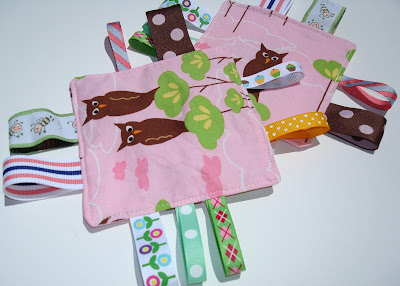 Baby Crinkle Tag Toy via lilblueboo.com