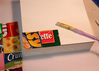 Glue Squares with Matte Medium via lilblueboo.com