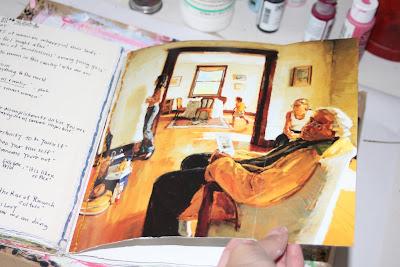 Making a Composition Book Art into a Journal 26 (Tutorial) via lilblueboo.com