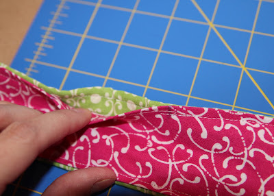 Scrap Ribbon Camera Strap Cover (A Tutorial) step 11 don't stitch gap via lilblueboo.com