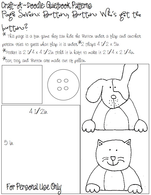 Craftadoodle Quiet Book Page 7 And Printable Patterns