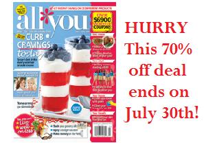 Special Offer: ALL You Magazines for $.75 each