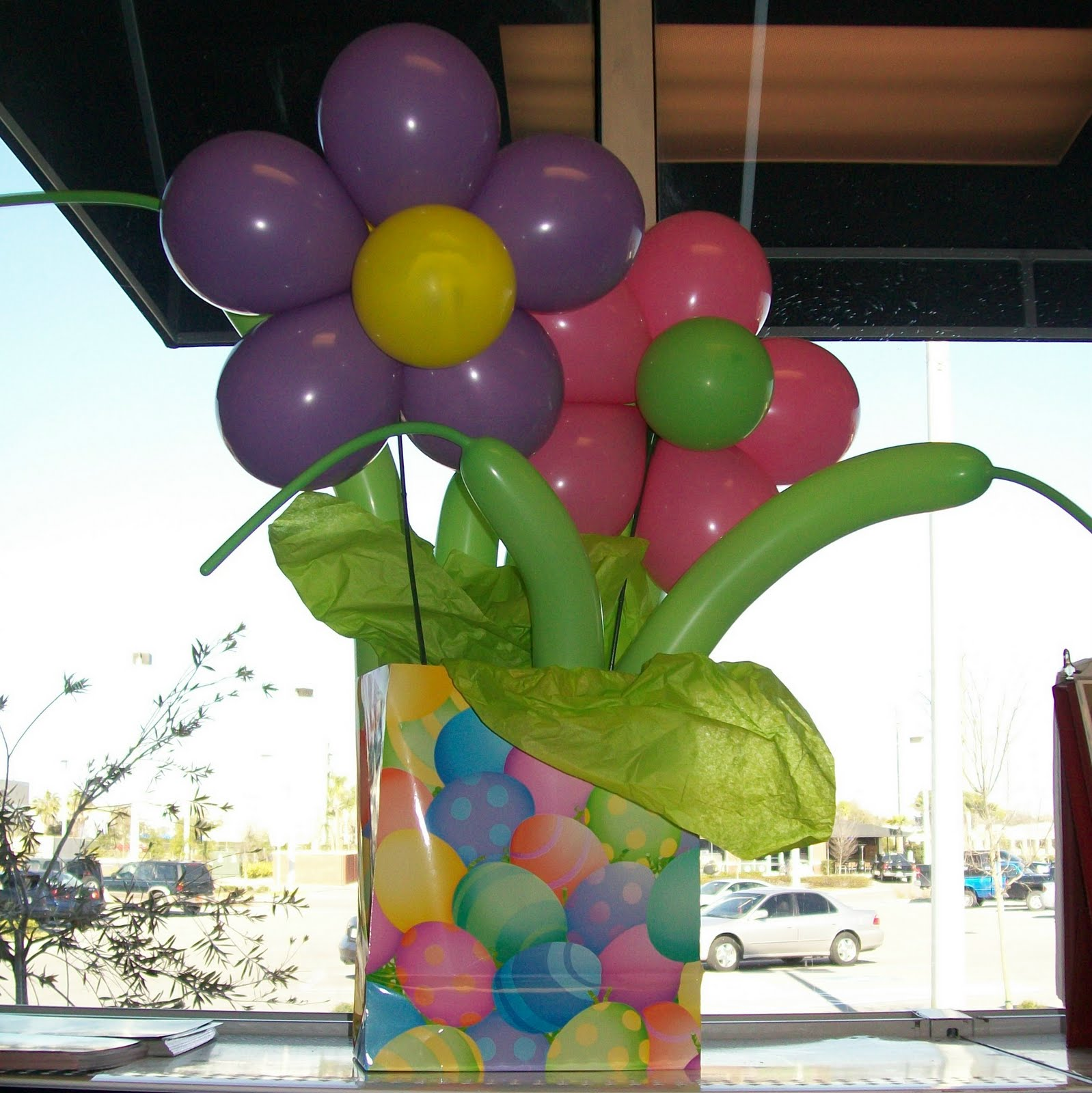 Flower balloon decorations party favors ideas Simple flower decoration ideas