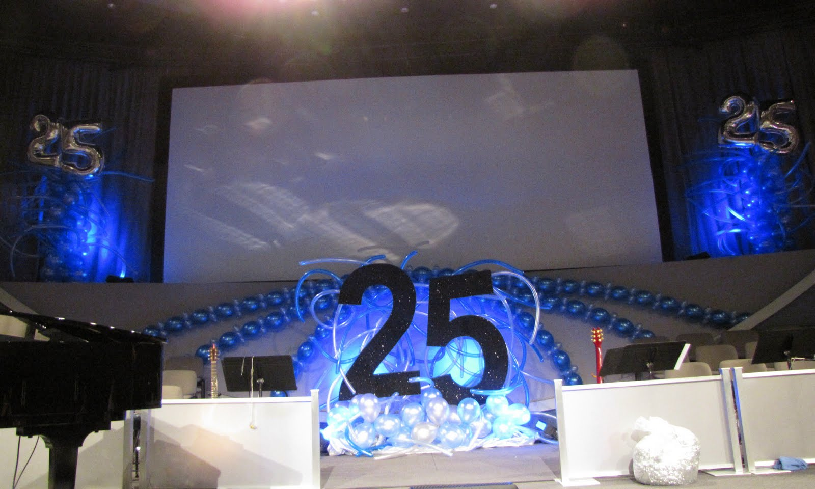 Party people event decorating company family worship for 25 year anniversary decoration ideas