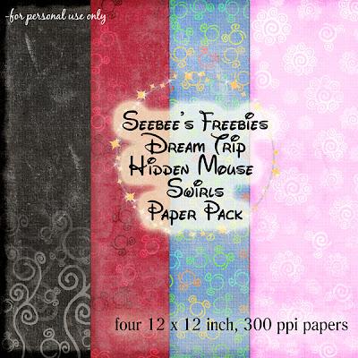 {Kits Digitais} Disney - Mickey, Minnie, Baby Disney Seebee%27s+Freebies+Dream+Trip+Hidden+Mouse+Swirls+Paper+Pack+contact+sheet