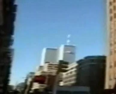 twin towers plane shadow. the First Plane Hits