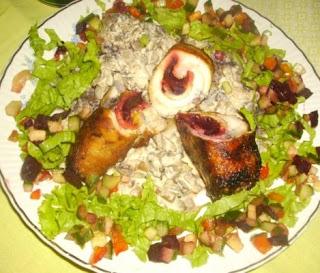 Articole culinare : Rulouri de Pui cu ciuperci