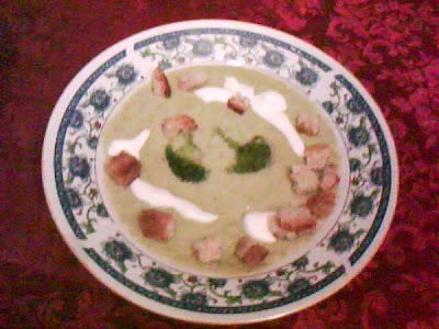 Articole culinare : Supa-Crema de Brocoli si Sparanghel