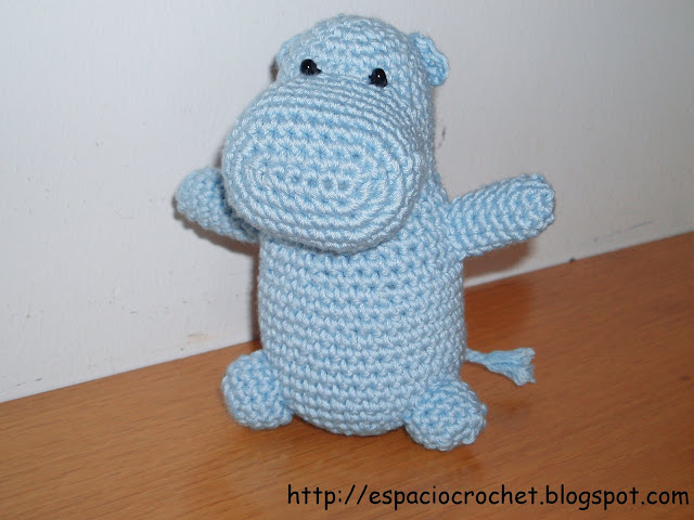 Amigurumi-hipopótamo