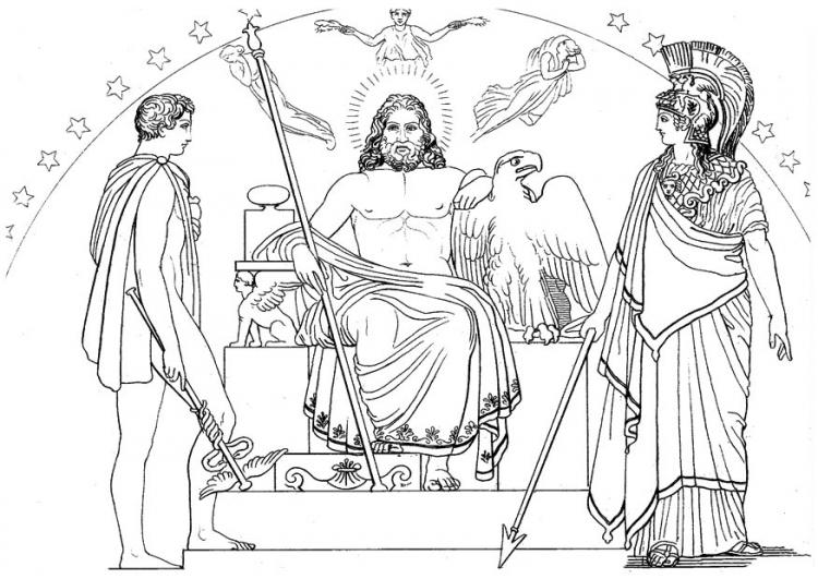 Conversas cartom nticas fim do ano anivers rio for Zeus coloring page