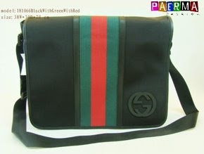 Gucci Stripe Messenger Bag - Black