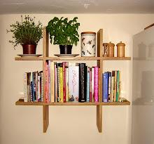 loaded kitchen shelves