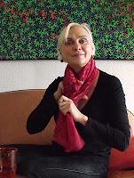 Anja Huwe in her studio in Hamburg; photo by Val Phoenix