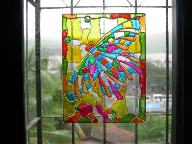 painting information how to paint glass suncatchers. Black Bedroom Furniture Sets. Home Design Ideas
